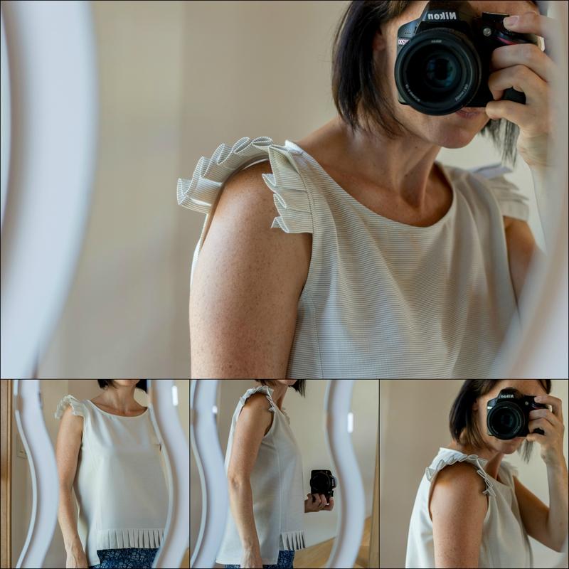Cézembre blouse Anne Kerdilès Couture - Le Jardin d'Eden et Robin