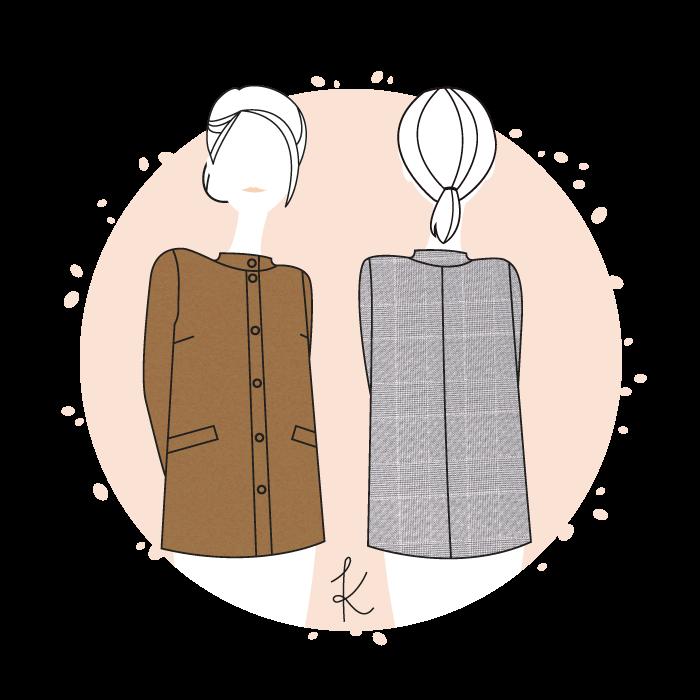 Patron manteau Tromso – Anne Kerdilès Couture