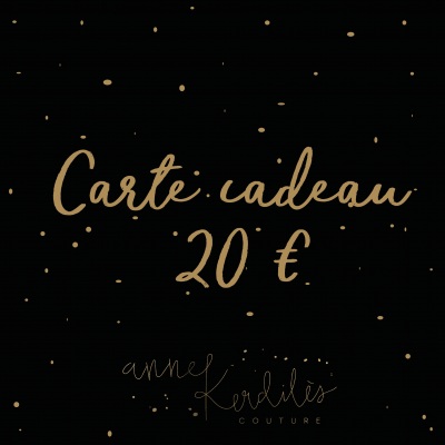 Carte cadeau - Anne Kerdilès Couture